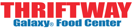 A theme logo of Thriftway Galaxy Foods
